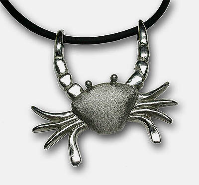 Schwimmkrabbe als Anhänger in Silber -Swim Crab as pendant in silver