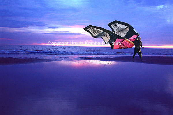 "Photo-Illusion ""Beach butterfly"" as print on canvas"